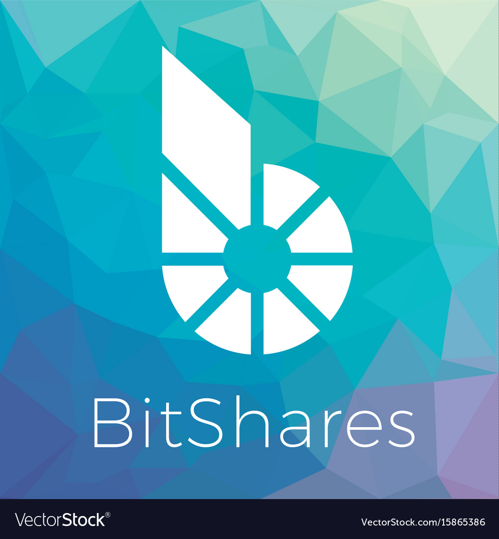 Bitshares bts blockchain criptocurrency logo vector image