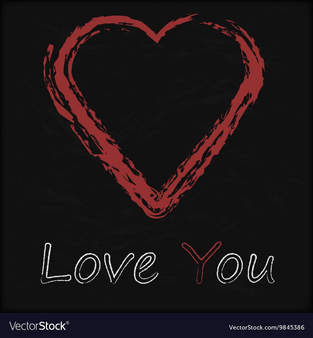 Blackboard with Love Heart