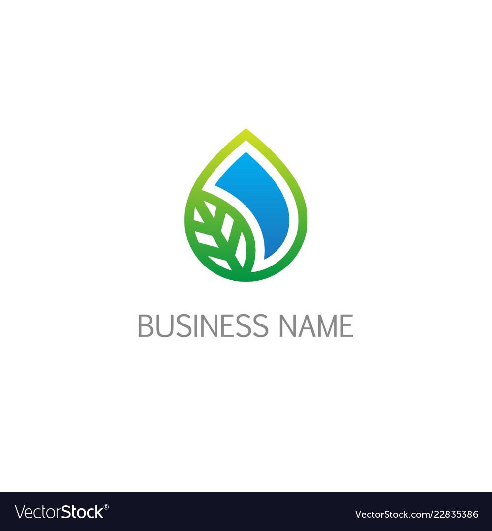 Droplet ecology organic bio logo