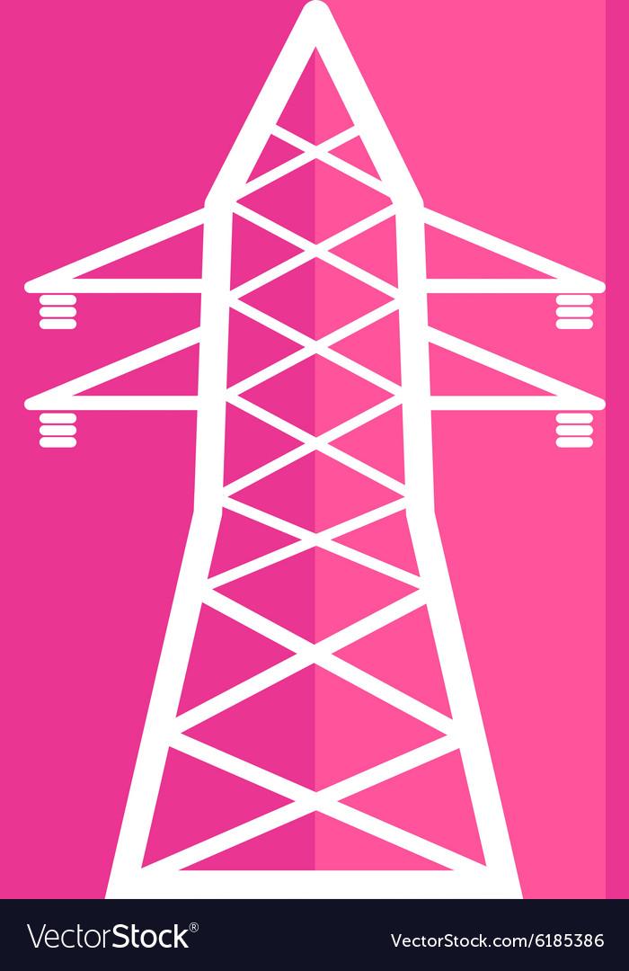 High-voltage line icon button logo symbol concept