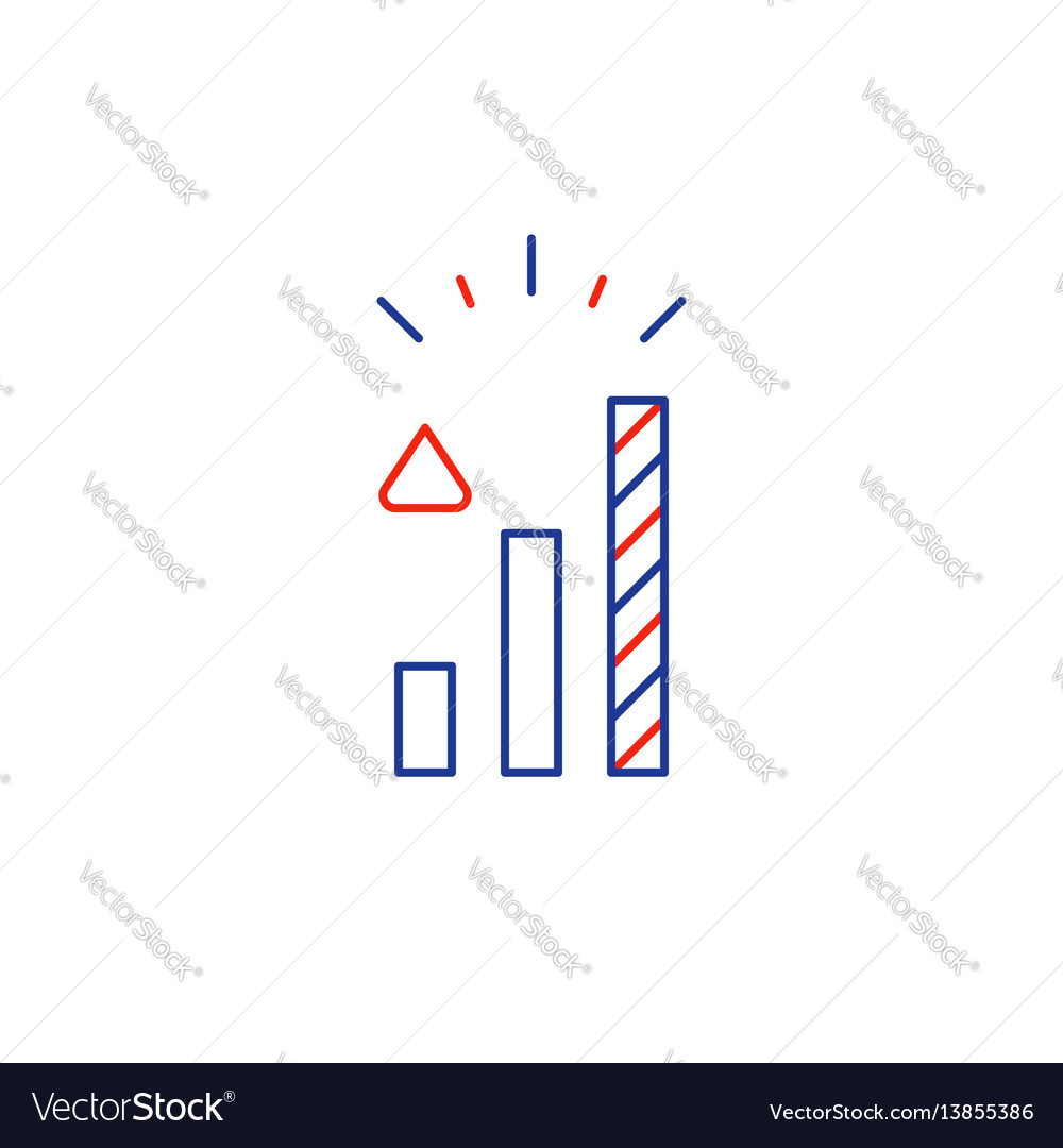 Investment concept business development plan vector image
