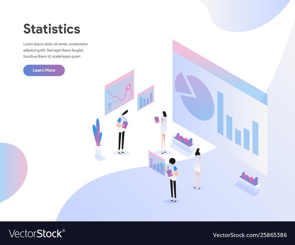 Landing page template data statistics