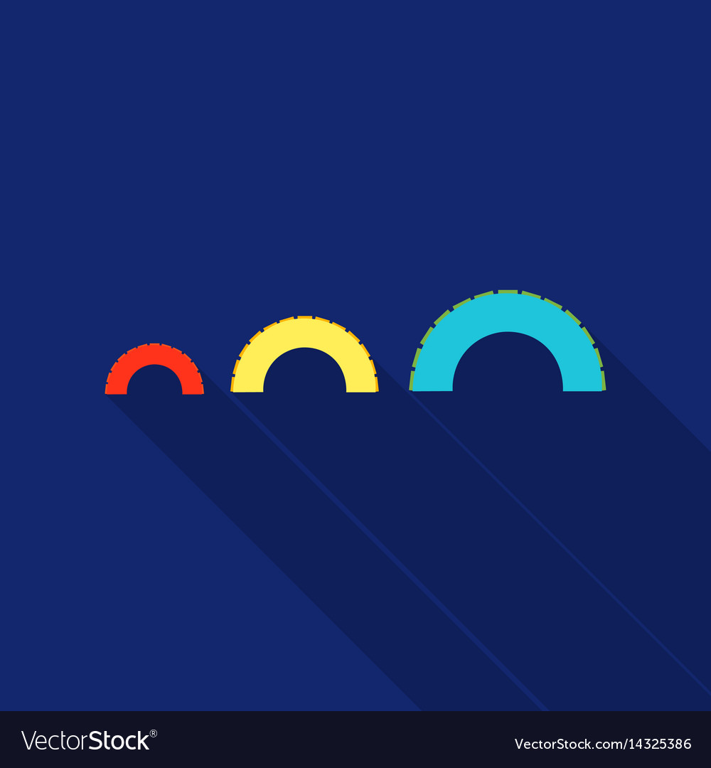 Tire on playgarden icon in flat style isolated on