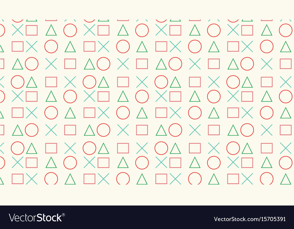 Circle triangle square and cross pattern vector image