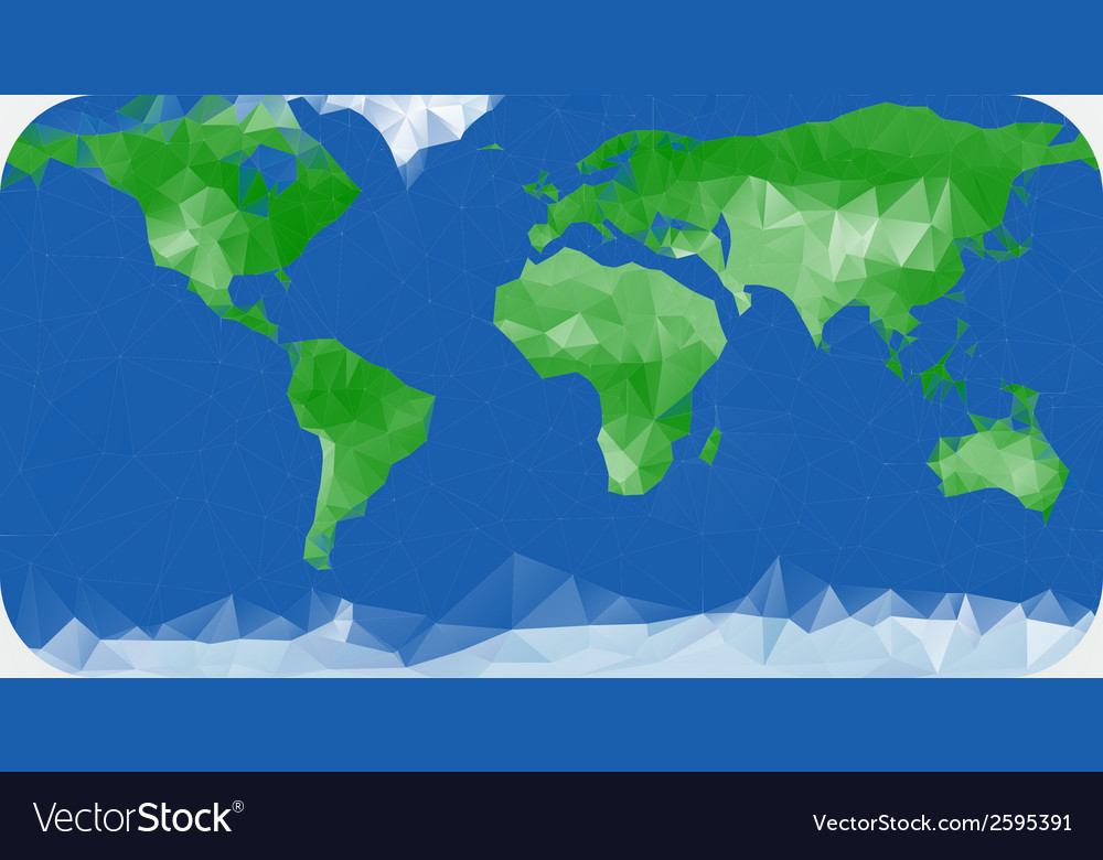 Earth map made with triangles Royalty Free Vector Image