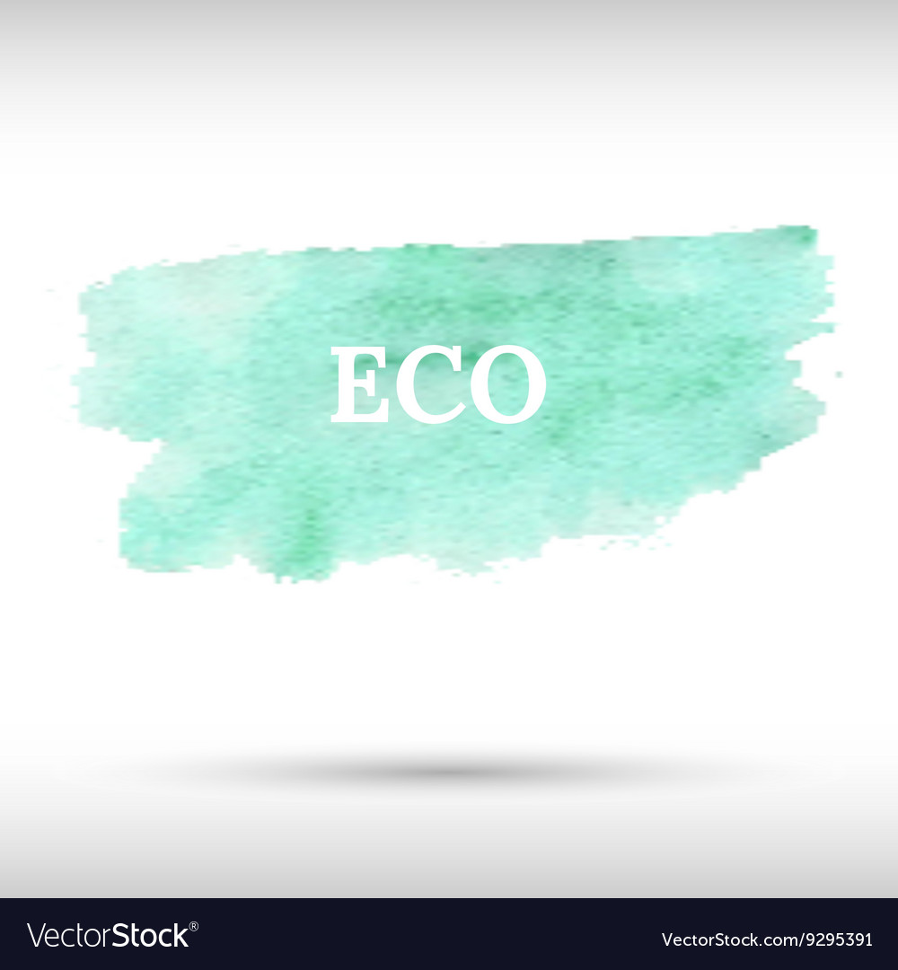 Eco green watercolor background vector image