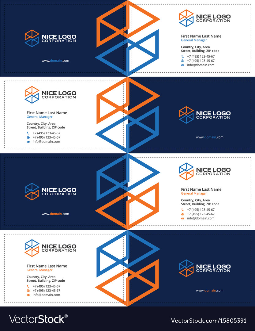 Engineering and construction business card dark Vector Image