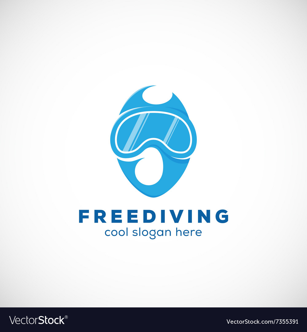 Freediving Abstract Scuba Diving Sign