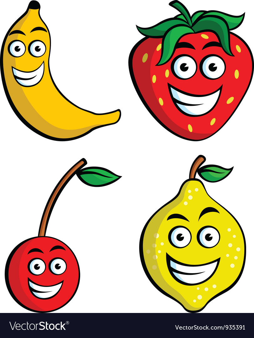 Free Vector Fruits on Funny Fruits 2 Vector 935391 By Intensemedia