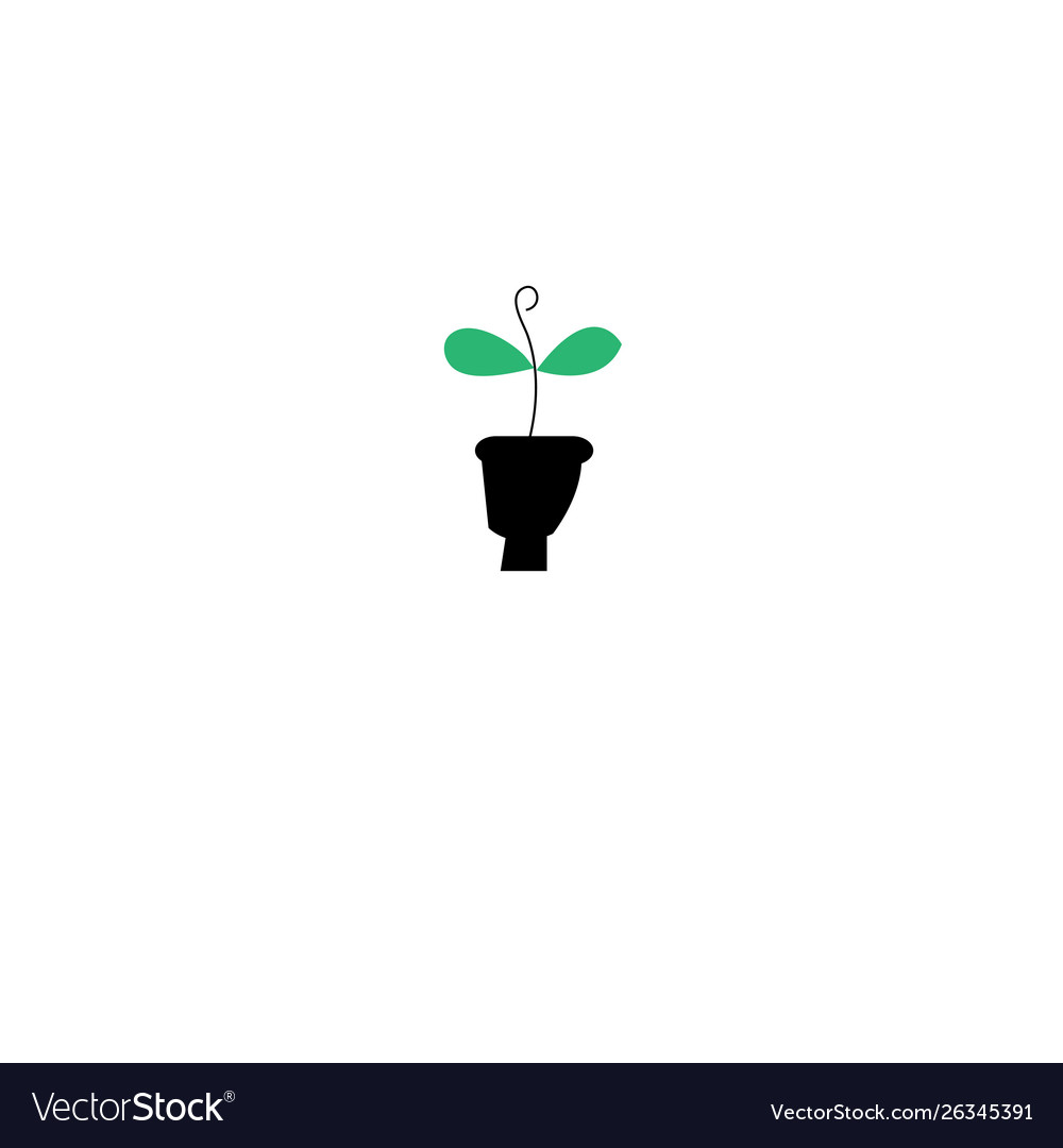 Graphics silhouette icon eco green sprout