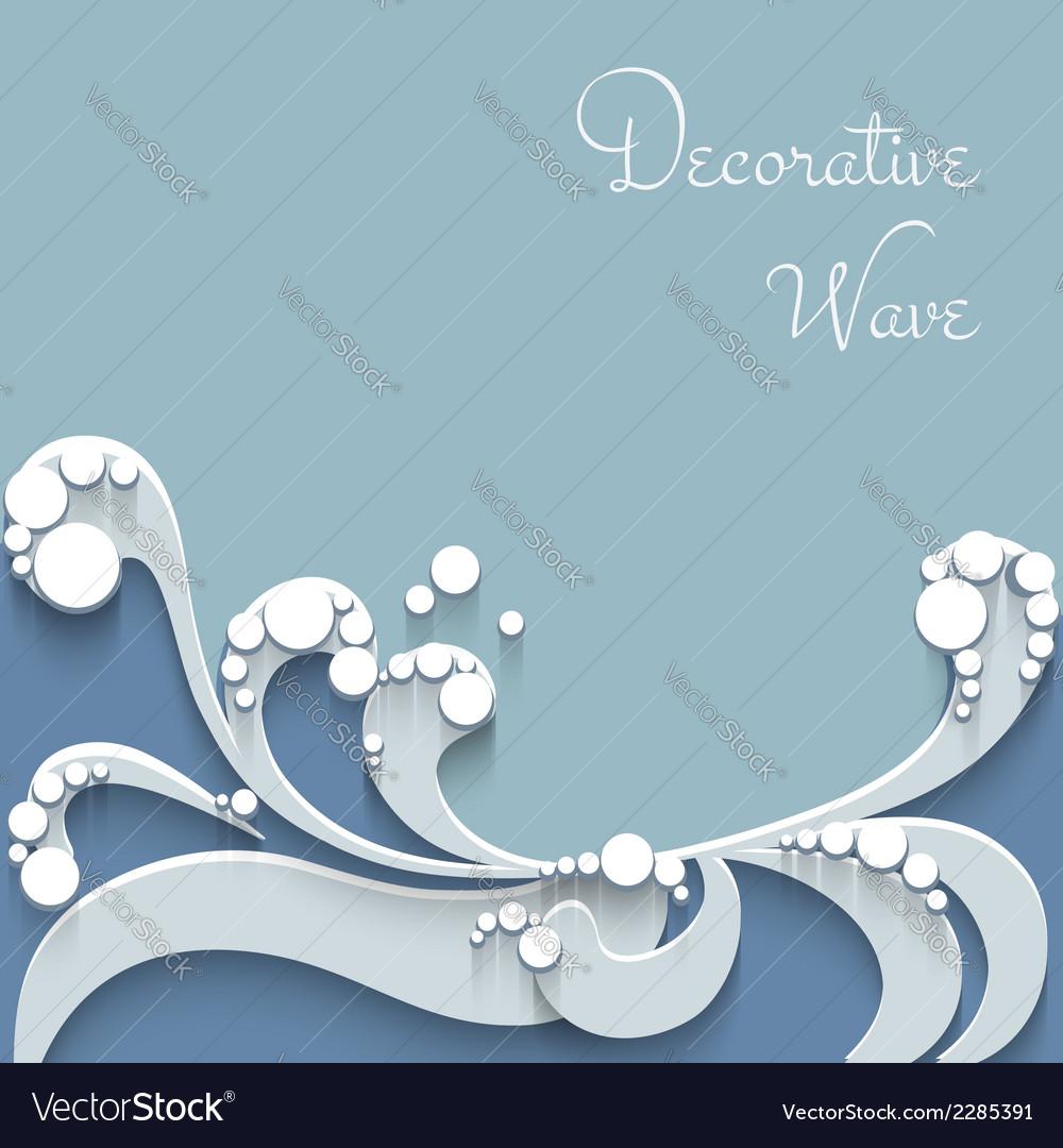 Paper wave background vector image