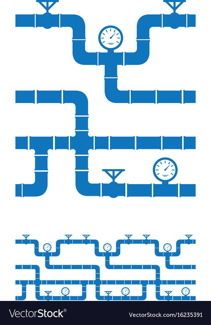 Seamless piping border vector image