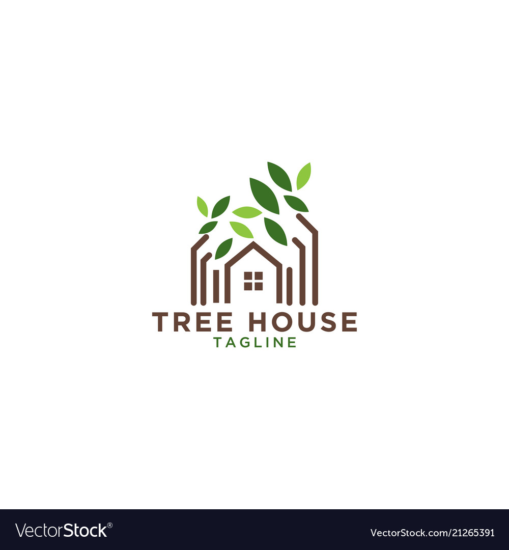 Tree house logo design template