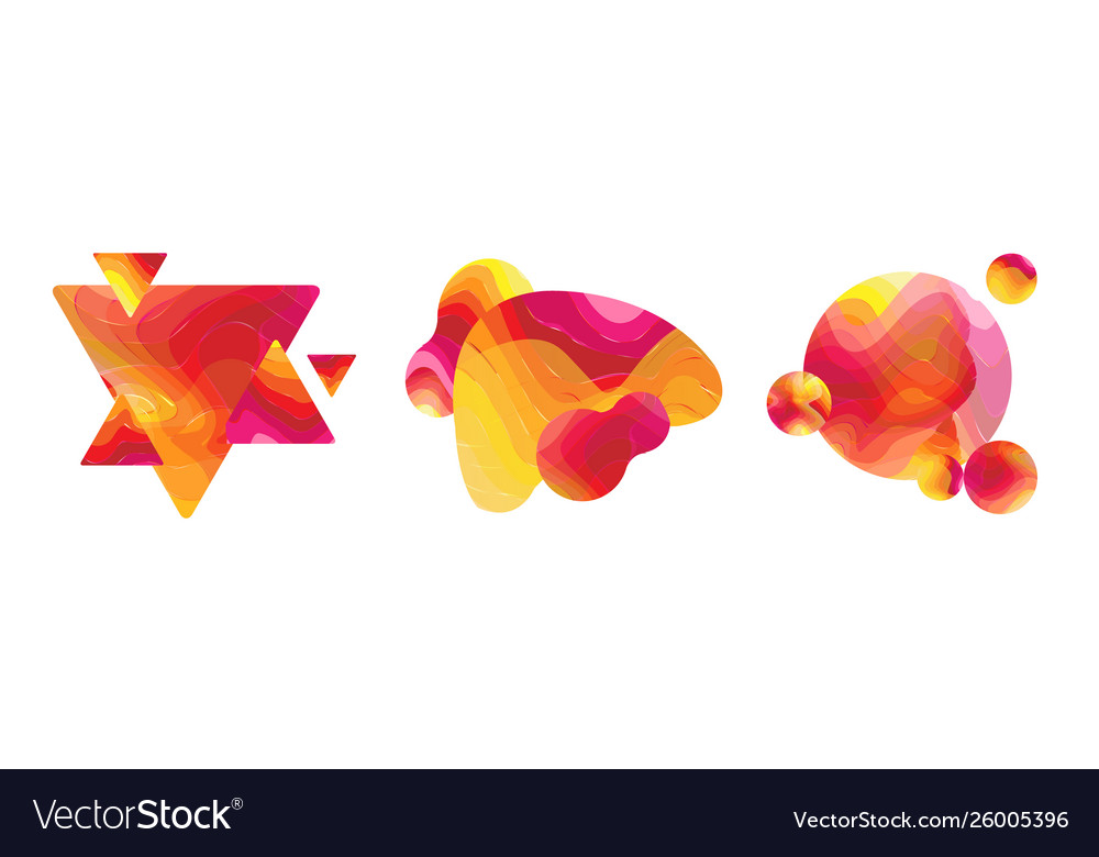 Abstract liquid shape isolated background