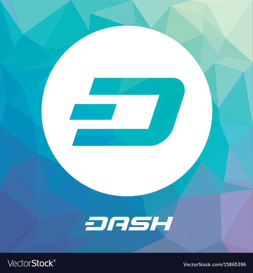 Dash blockchain cripto currency logo vector image