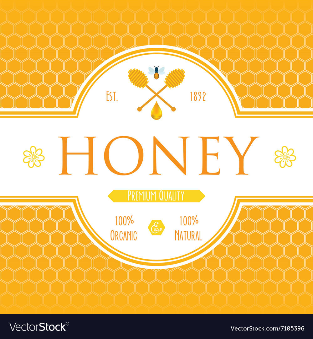 Honey Label Template For Honey Logo Products With