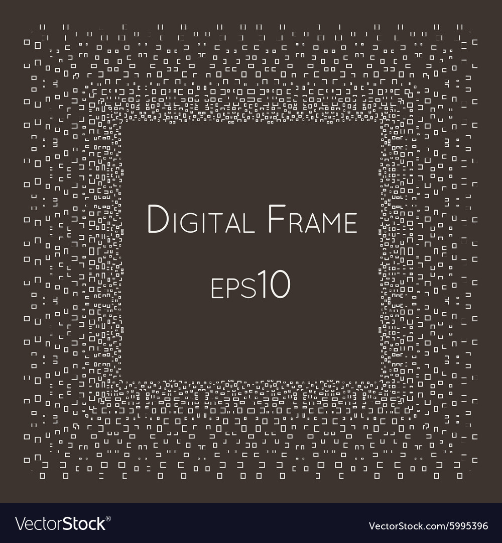 Intricate Digital frame with small Royalty Free Vector Image