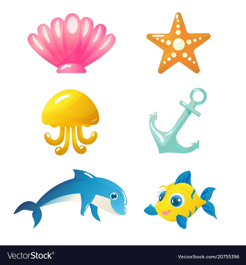 Isolated underwater animals and elements