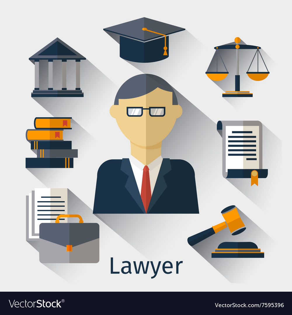 Lawyer attorney or jurist concept