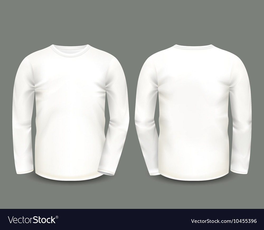Mens white sweatshirt long sleeve