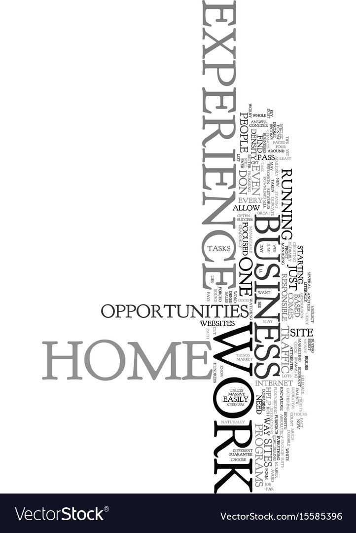 Work at home with no experience text word cloud