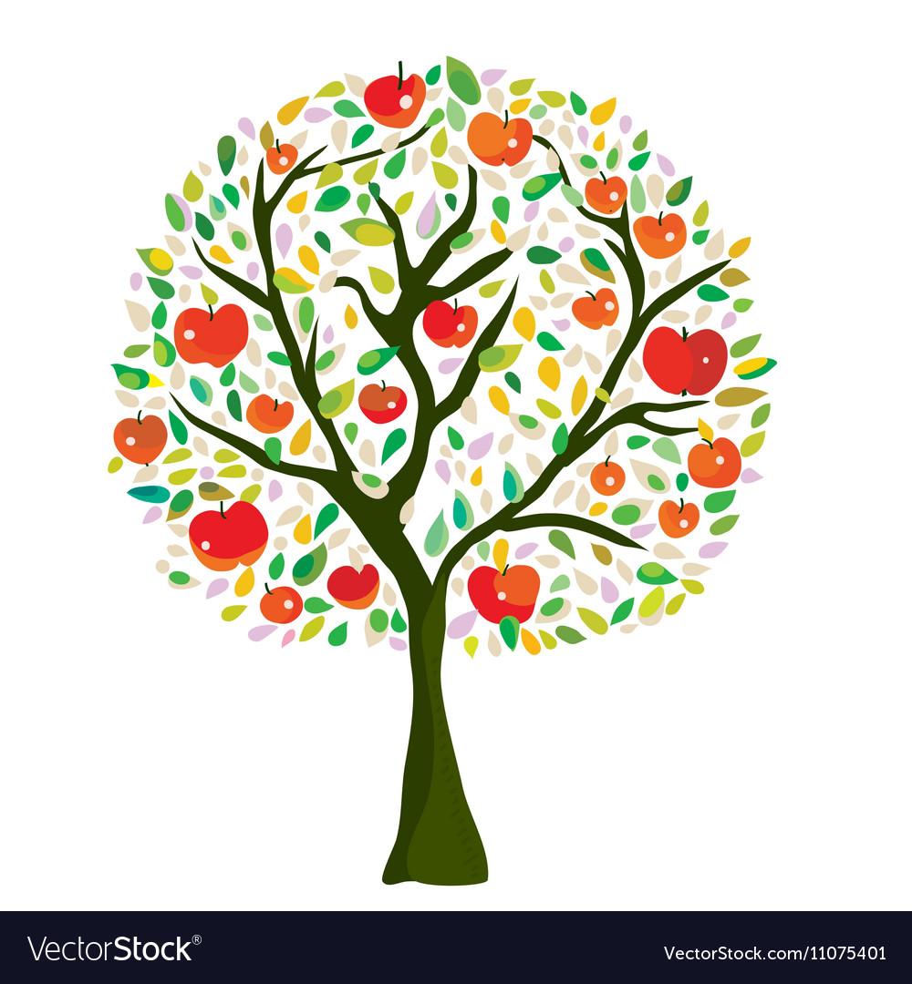 Apple tree at the autumn