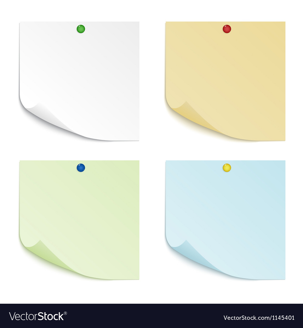 Colored sheets of paper vector image