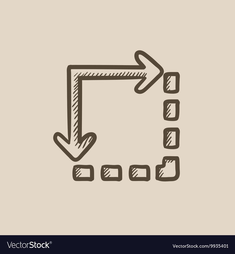 Content extension sketch icon