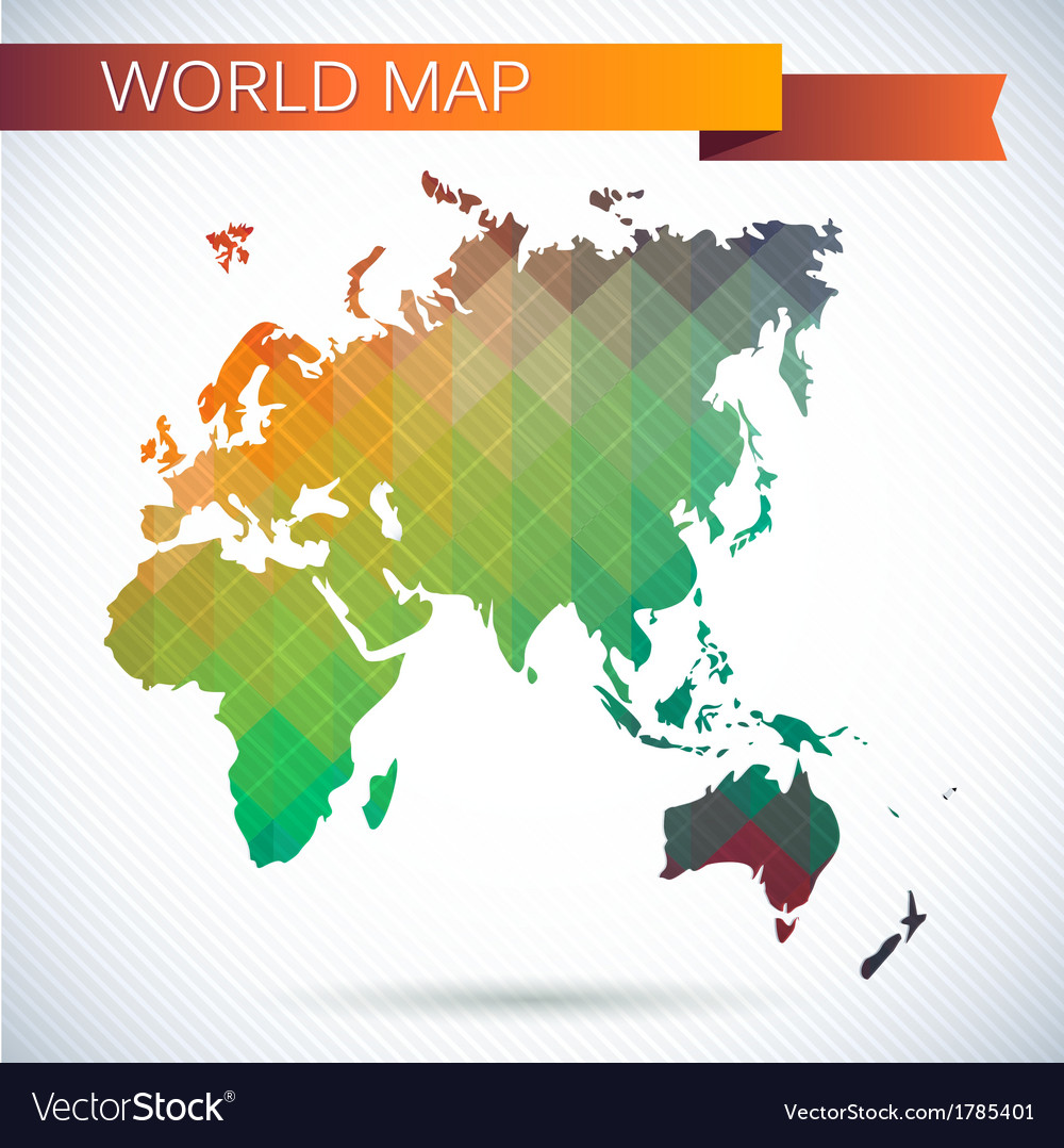 Eastern Hemisphere Globe Bright Map Royalty Free Vector