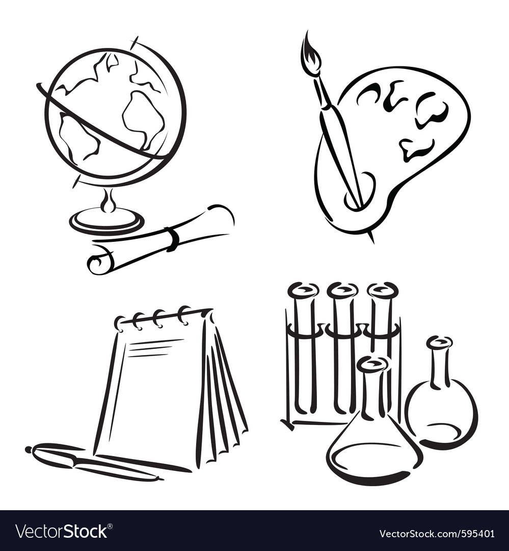 Education equipment vector image