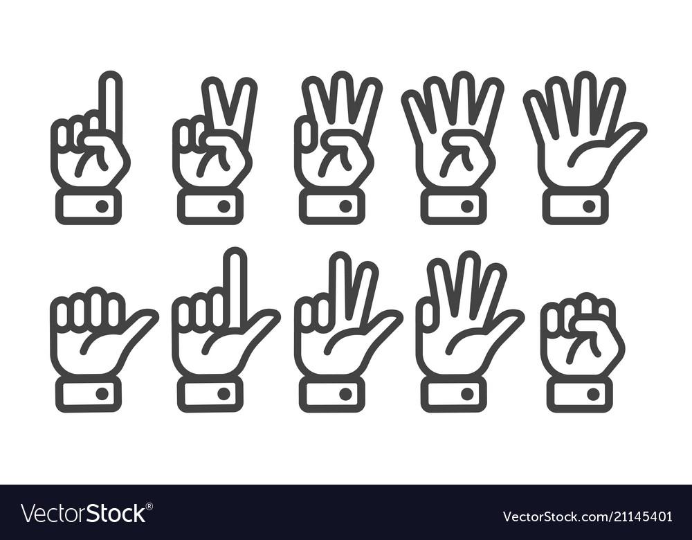 Finger counting icon