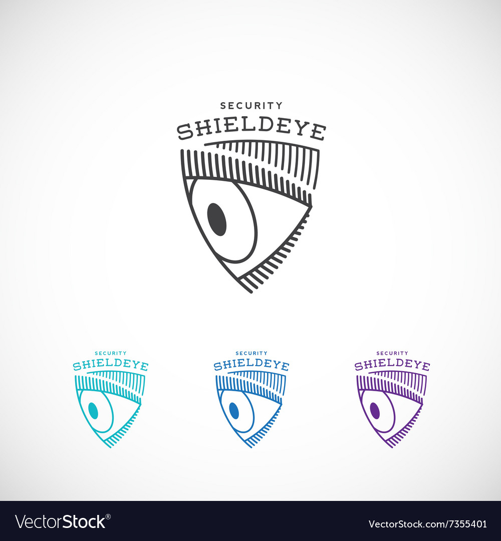 Shield Eye Security Abstract Sign Symbol