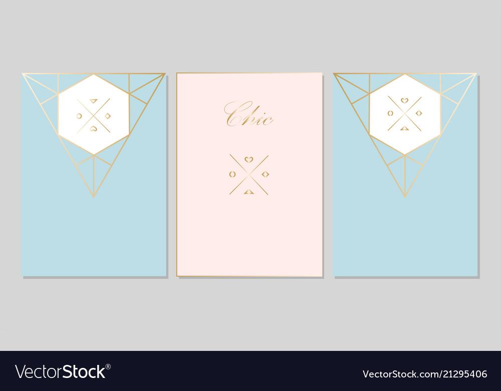 Chic geometric card set