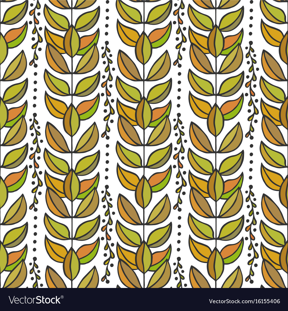 Ethnic seamless pattern with colorful stylish vector image