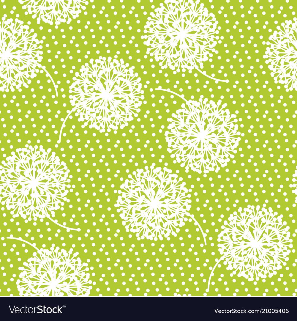 Geometric style dandelion flowers