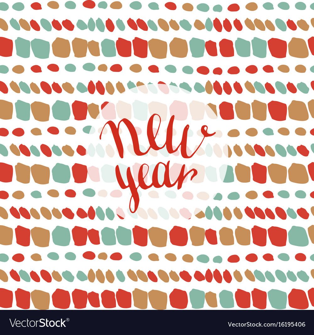 new year fashion pattern seamless xmas background vector image