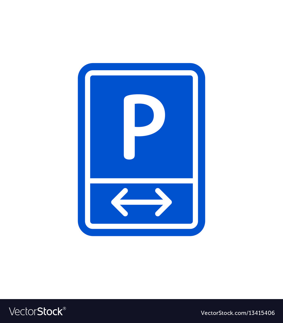 Parking zone roadsigns isolated on white backgroun
