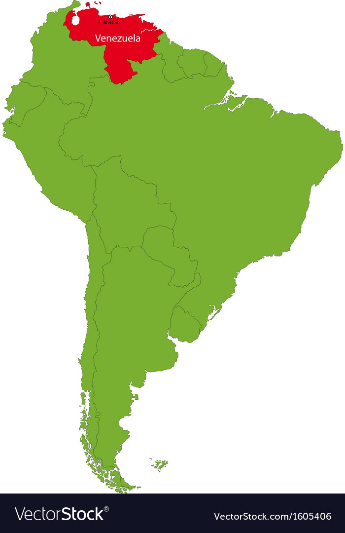 Venezuela On Map Venezuela map Royalty Free Vector Image   VectorStock Venezuela On Map