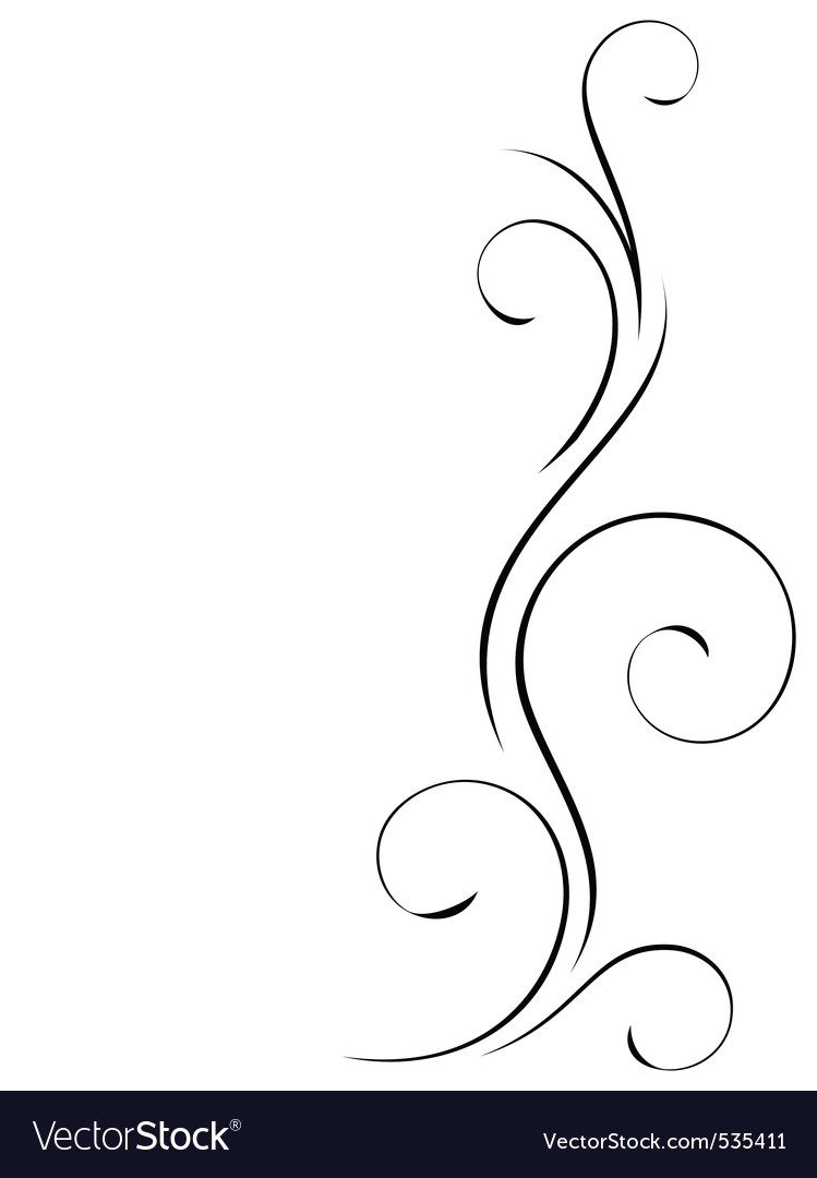 Abstract swirly decoration vector illustration vector image