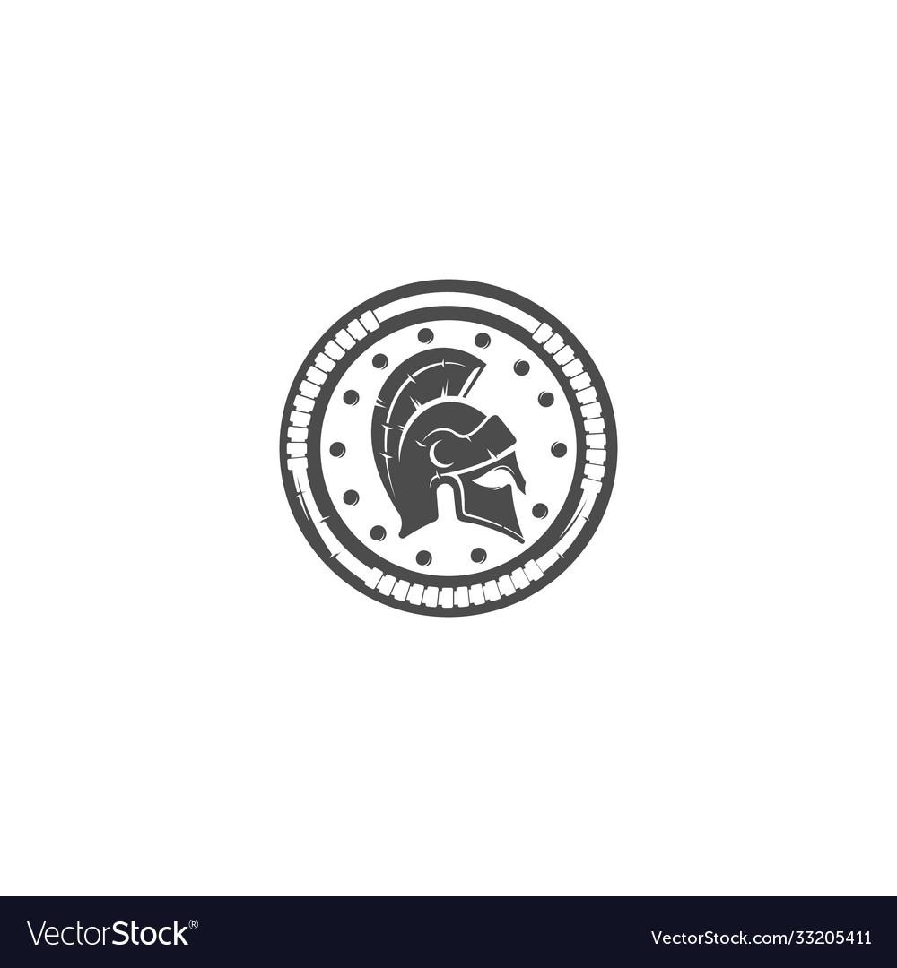 Gladiator mask shield silhouette