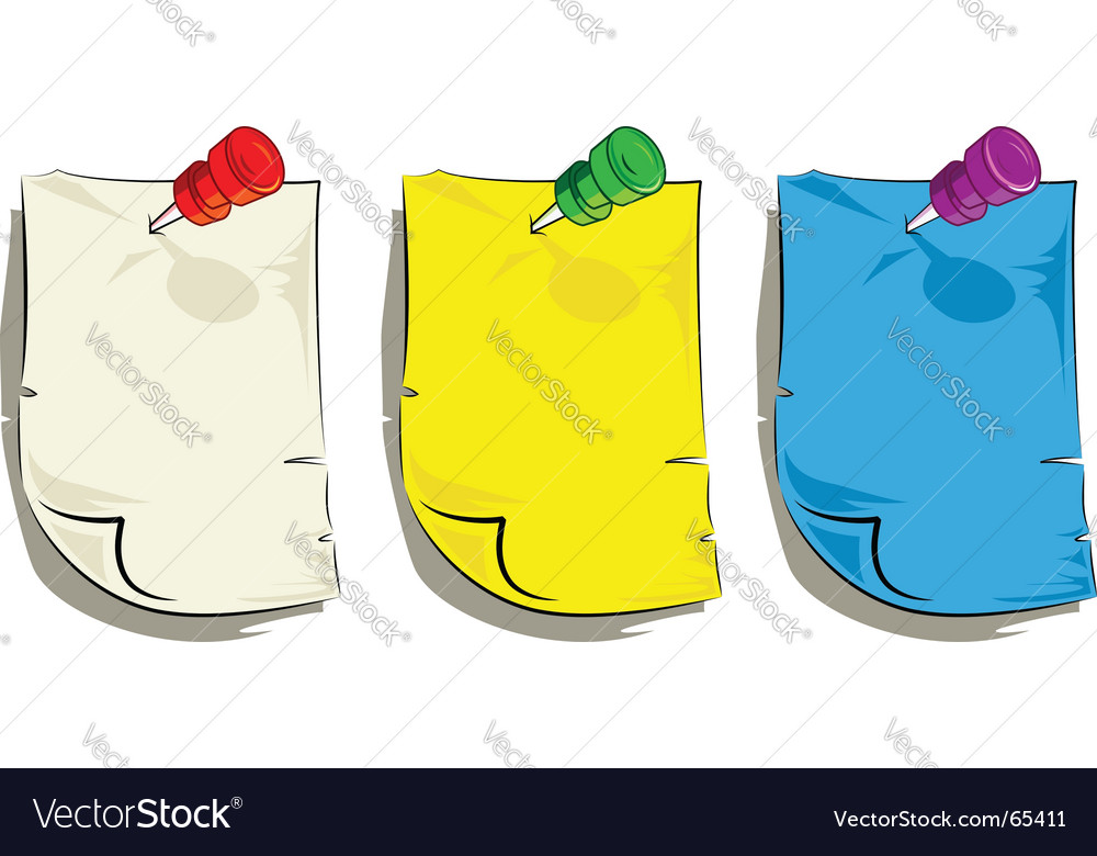Note page vector image