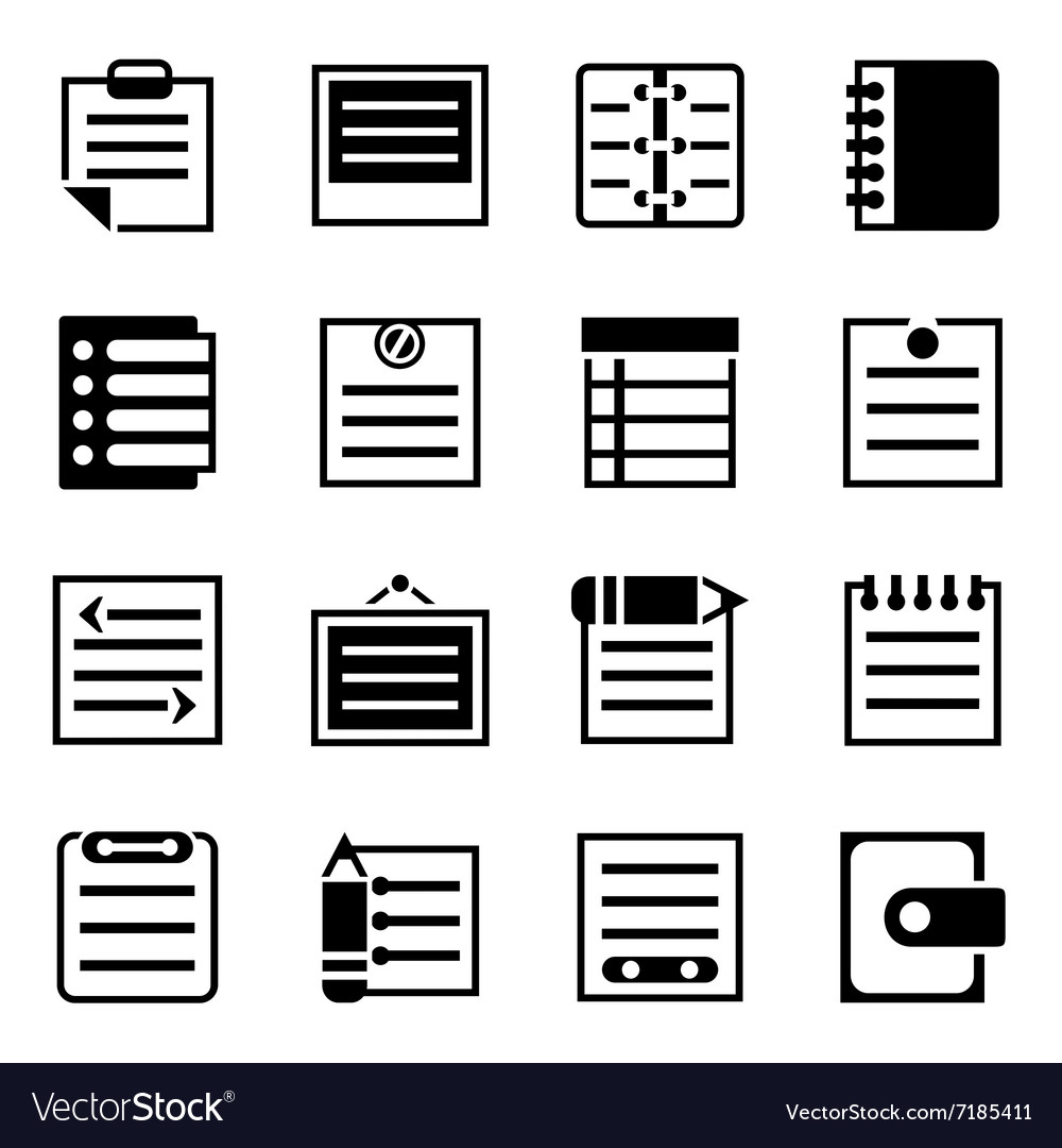 Notes icon set