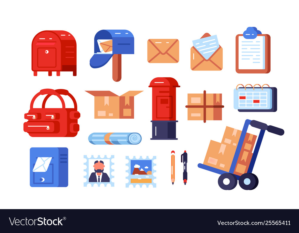 Post office symbols set