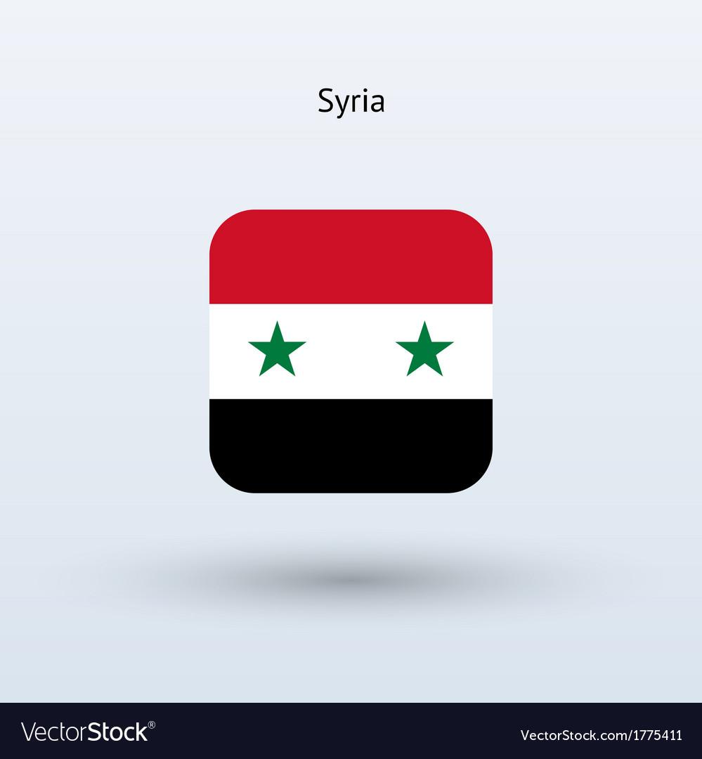 Syria flag icon vector image