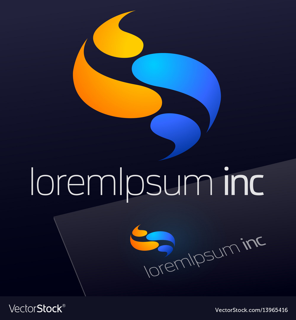 Abstract logo for business tourism travel