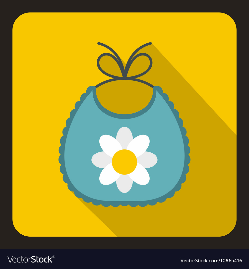 Baby bib icon in flat style vector image
