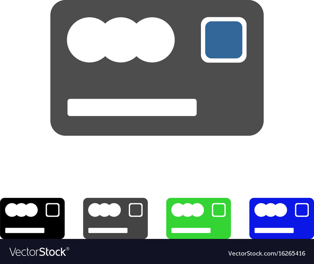 Banking card flat icon