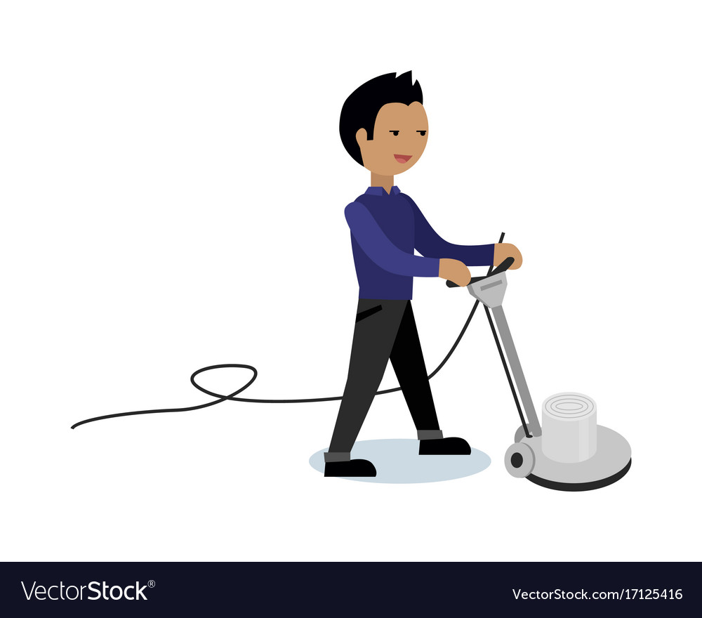 Floor cleaning concept in flat style vector image