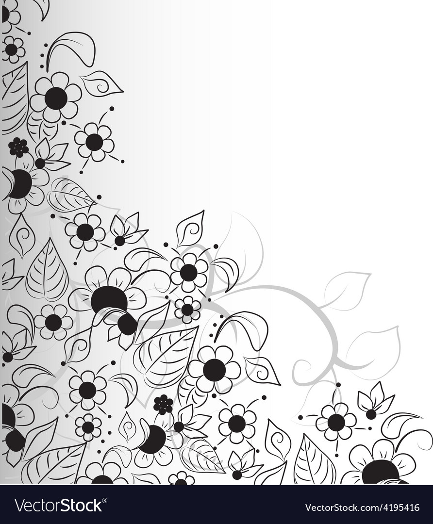 Floral abstract design