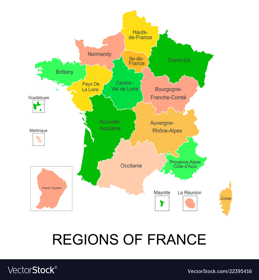 Interactive map of metropolitans french regions